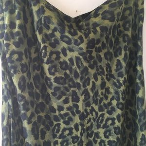Urban Outfitters Green Leopard Maxi Skirt, NWT, L